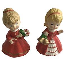 Vintage Christmas Girl Homco Figurines 5251