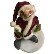 Annalee Saint Nicholas Santa Burgundy Outfit Stuffed Plush Doll