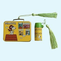 Hallmark Christmas Charlie Brown Peanuts Lunchbox Thermos Keepsake Ornaments