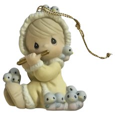 Precious Moments Twelve Days of Christmas 11 Pipers Piping Ceramic Ornament