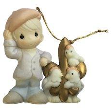 Precious Moments Twelve Days of Christmas 3 French Hens Ceramic Ornament
