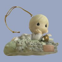 Precious Moments Twelve Days of Christmas 8 Maids Milking Ceramic Mice Ornament