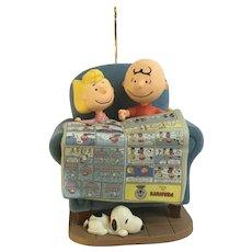 Hallmark Peanuts Charlie and Sally Brown Snoopy Comics Christmas Ornament