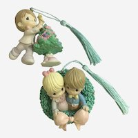 Precious Moments Christmas Ornament Wreath and Tree