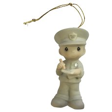 Police Officer Precious Moments Christmas Ornament Enesco Samuel Butcher