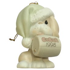 Puppy Dog Christmas Ornament Precious Moments Enesco Figurine