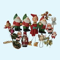 Vintage Christmas Decorations and Ornaments Gnomes, Elves, Angels and Santas