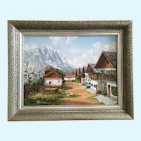 W. Reimann European Alps Landscape Oil Painting