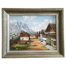 W. Reimann European Alps Landscape Oil Painting