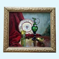 Carolus Verhaeven Table Still Life Oil Painting California Listed Artist