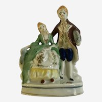Occupied Japan Victorian Style Courting Couple Figurine