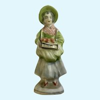 Rare Occupied Japan Street Vendor Selling Apples Figurine