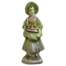 Rare Occupied Japan Street Vendor Selling Apples Figurine