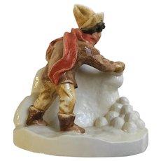 Sebastian Miniatures Figurine Snowball Fight Hudson Massachusetts