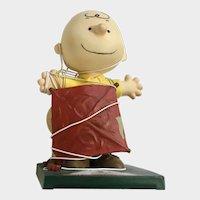 Good Grief Charlie Brown Peanuts Figurine Tangled In Kite #8432