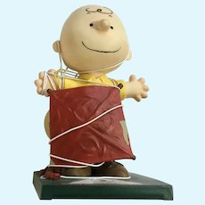 Good Grief Charlie Brown Peanuts Figurine Tangled In Kite #8432