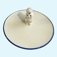 Pillsbury Dough Boy Ceramic Cookie Plate 1999