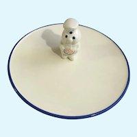 Pillsbury Dough Boy Ceramic Cookie Plate 1999