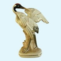 Occupied Japan Crane Bird Figurine