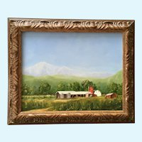D Mueller, Plein Air Farm Landscape Oil Painting
