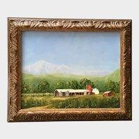 D Mueller, Plein Air Farm Landscape Oil Painting