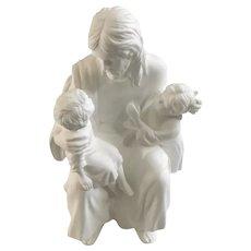 Lenox Jesus The Children's Blessing Bisque Statuette Figurine 1989