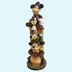 Mickey & Friends Totem Pole Disney's Wilderness Lodge Resin Figurine