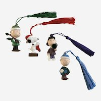 Peanuts Character Ornaments Snoopy, Linus, Lucy and Charlie Brown Hallmark Cards