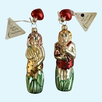 Department 56 Tarzan & Jane Christmas Ornaments Blown Glass