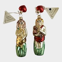 Department 56 Tarzan & Jane Christmas Ornaments Blown Glass