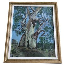 Eucalyptus Tree in Australian Outback Oil Painting