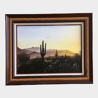 Kevin Frohlich, Arizona Sunrise Landscape Oil Painting