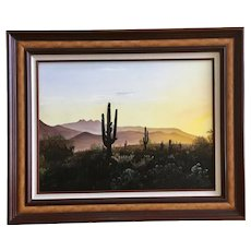 Kevin Frohlich, Arizona Sunrise Landscape Oil Painting