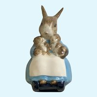 Royal Albert Mrs. Rabbit & Bunnies Rocking Chair Figurine 1989