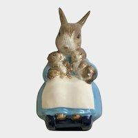 Royal Albert Mrs. Rabbit & Bunnies Rocking Chair Figurine 1989