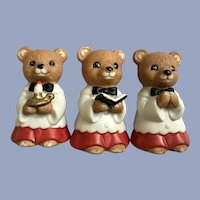 Homco Choir Bears Christmas Decoration Figurines