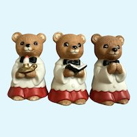 Homco Choir Bears Christmas Decoration Figurines