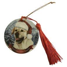 Christmas Golden Retriever Dog Tamara Bernett Ornament 2012