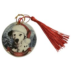 Christmas Dalmatian Dog Tamara Bernett Ornament 2012