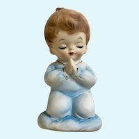 Vintage Lefton Night Light Boy Praying Figurine