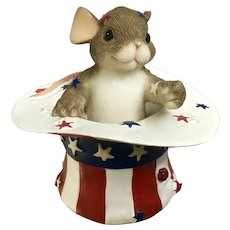 Charming Tails Figurine I Want You Uncle Sam Hat Mouse