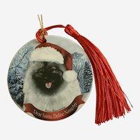 Christmas Keeshond Dog Tamara Bernett Ornament 2012