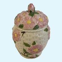 Desert Rose Franciscan Basket Weave Canister Thailand