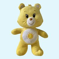 Care Bears Yellow Funshine Sunshine Stuffed Plush Animal Kelly Toy 13""
