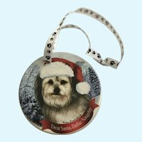 Christmas Yorkipoo Dog Tamara Bernett Ornament 2012