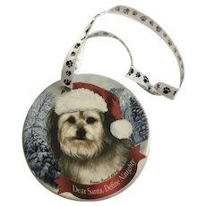 Christmas Yorkipoo Dog Tamara Bernett Ornament 2012