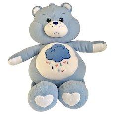 "Care Bears Jumbo 27"" Grumpy Plush Stuffed Animal Carebear 1980's"