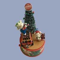 Coke Mini Action Musical Music Box Figurine 1996