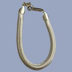 Napier Silver-Tone Ribbon Chain Bracelet