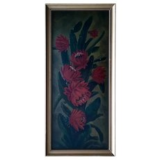 A L Arnold, Blooming Cactus Still Life Oil Painting 1911